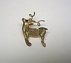 Vintage Ballou Reindeer-form Lapel Tie  pin