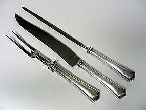 Vintage Silver Plate Carving Set By 