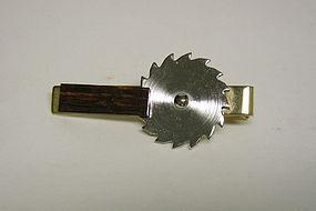 Vintage Gold Plate Saw Blade-form Tie  clip