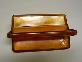 Art Deco Blonde Tortoiseshell Case