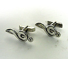 Sterling Silver G Clef Musical Note 