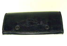 Vintage Fly Fishing Leather Wallet With flies
