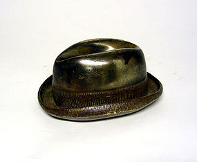 Vintage Fedora Hat-Form Paperweight