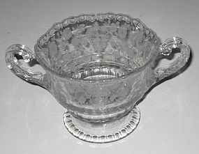 Cambridge ROSE POINT #3500/14 Sugar Bowl, Crystal
