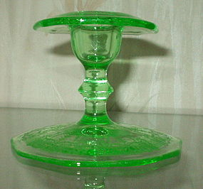 "Cambridge CLEO 3.5"" Candlestick, Emerald Green Light"