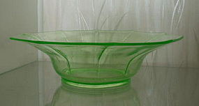 "Cambridge DECAGON 12"" Console Bowl, Emerald Green Light"