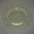 "Cambridge APPLE BLOSSOM Yellow 9 1/2"" Dinner Plate"