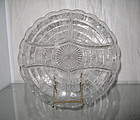"Cambridge WILDFLOWER 10"" 5-Part Round Relish Crystal"
