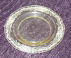 "Fostoria JUNE Etched 7 1/2"" Salad Plate, Topaz (Yellow)"