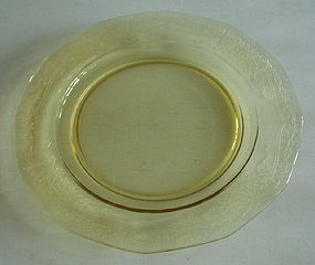 Fostoria JUNE 10.5� Large Dinner Plate, Topaz Yellow