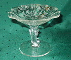 "Fostoria CHINTZ 4.75"" Flame Stem Comport, Crystal"
