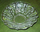 "Fostoria CHINTZ 12"" Flat Round Flared Bowl, Crystal"