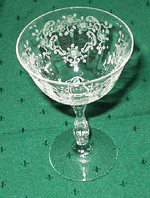 "Fostoria MEADOW ROSE 5.25"" Liquor Cocktail, Crystal"