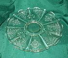 "Fostoria NAVARRE 14"" Cabaret or Torte Plate, Crystal"