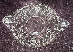 "Fostoria NAVARRE 10.5"" Handled Cake Plate, Crystal"