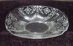 "Fostoria NAVARRE 12 1/2"" Oblong #2545 Flame Bowl"