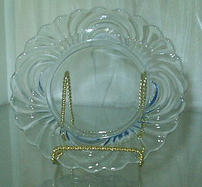 "Cambridge CAPRICE 6.5"" Bread Plate Moonlight Blue"
