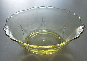 "Cambridge #3400 6"" Cereal Bowl, Gold Krystol (Yellow)"