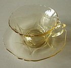 Cambridge #3400/54 Yellow Gold Krystol Cup and Saucer