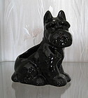 Vintage Black Ceramic Scottie Dog Planter