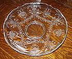 """Heisey ORCHID Etch 13"""" Waverly Gardenia Bowl, Crystal"""