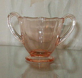 Fostoria FAIRFAX Footed Individual Tea Sugar, Rose Pink