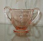 Fostoria FAIRFAX Footed Individual Tea Sugar, Rose Pink