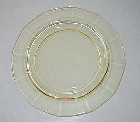 """Fostoria FAIRFAX 7.35"""" Salad Plates, Topaz Set of 6"""
