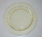 "Fostoria FAIRFAX 7.35"" Salad Plates, Topaz Set of 6"