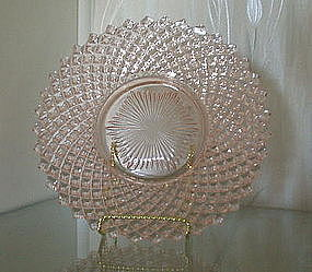 "Westmoreland ENGLISH HOBNAIL 8"" Luncheon Plates, Pink"