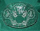 "Fostoria MIDNIGHT ROSE 10 1/2"" 4-Footed Bowl, Crystal"