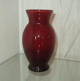 """Hocking ROYAL RUBY 6 3/8"""" Coolidge Vases (Pair)"""