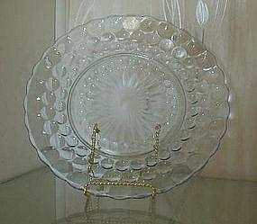 "Hocking BUBBLE 9 1/2"" Dinner Plates (4), Sapphire Blue"