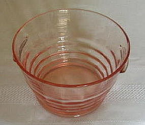 "Paden City PARTY LINE 6 1/2"" Handled Ice Tub, Pink"