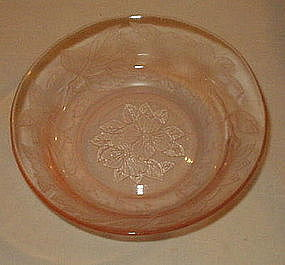 "MacBeth-Evans DOGWOOD 5 1/4"" Cereal Bowl, Pink"