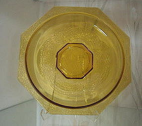 "LE Smith ROMANESQUE 10 1/2"" Low Bowl, Amber"