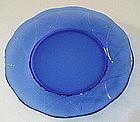 """Hazel Atlas NEWPORT 8.5"""" Luncheon Plates 3, Cobalt"""