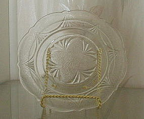 "Hazel Atlas ROYAL LACE 6"" Sherbet Plates (7), Crystal"