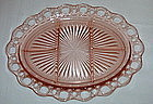 Hocking OLD COLONY 5 Part Relish Platter, Pink