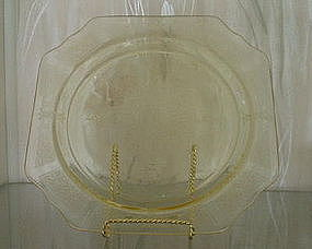 "Hocking PRINCESS 9 1/2"" Dinner Plate, Topaz Yellow"