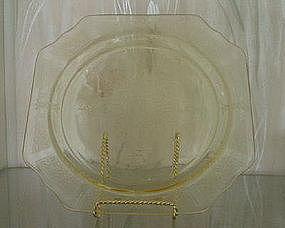 "Hocking PRINCESS 9 1/2"" Dinner Plate, Topaz Yellow"