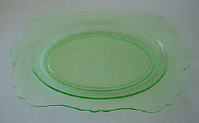 "Cambridge #3400/58 13.5"" Oval Platter, Light Green"