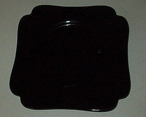 "Cambridge 7 3/4"" #3400 Square Luncheon Plate, Ebony"
