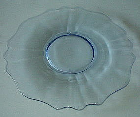 "Cambridge #3400/65 14"" Chop Torte Plate, Willow Blue"