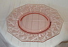 "Cambridge 12.5"" GRAPE Etched Torte Serving Plate, Pink"