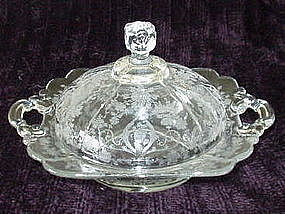 Cambridge DIANE #3400/52 Covered Butter Dish, Crystal