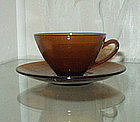 Cambridge PRISTINE Demitasse Cup and Saucer, Amber (4)