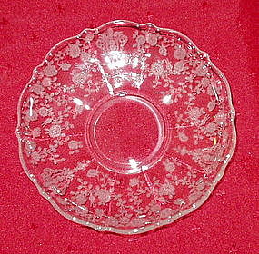 Cambridge ROSE POINT #3900 Saucer, Crystal