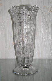 "Cambridge ROSE POINT #278 11"" Vase, Crystal"