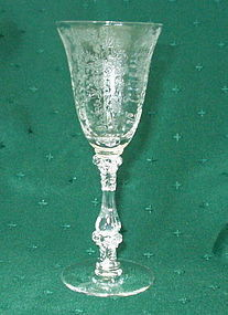 "Cambridge ROSE POINT #3121 5.8"" Wine Goblet, Crystal"